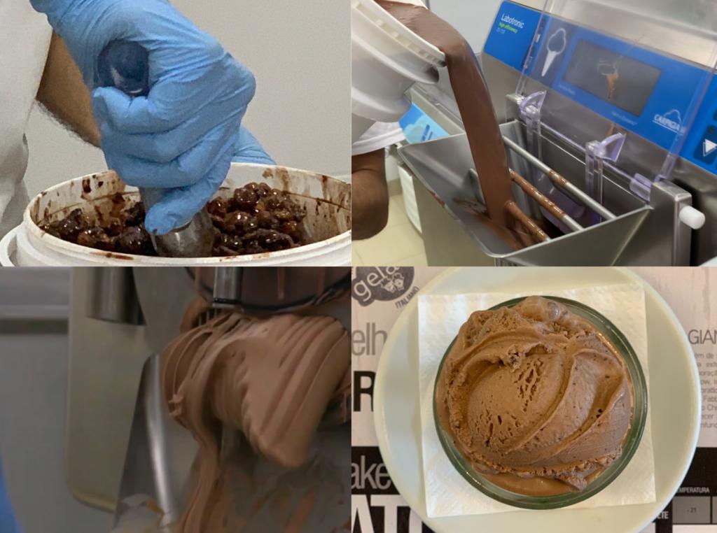 Produção de gelato Milk & Mellow