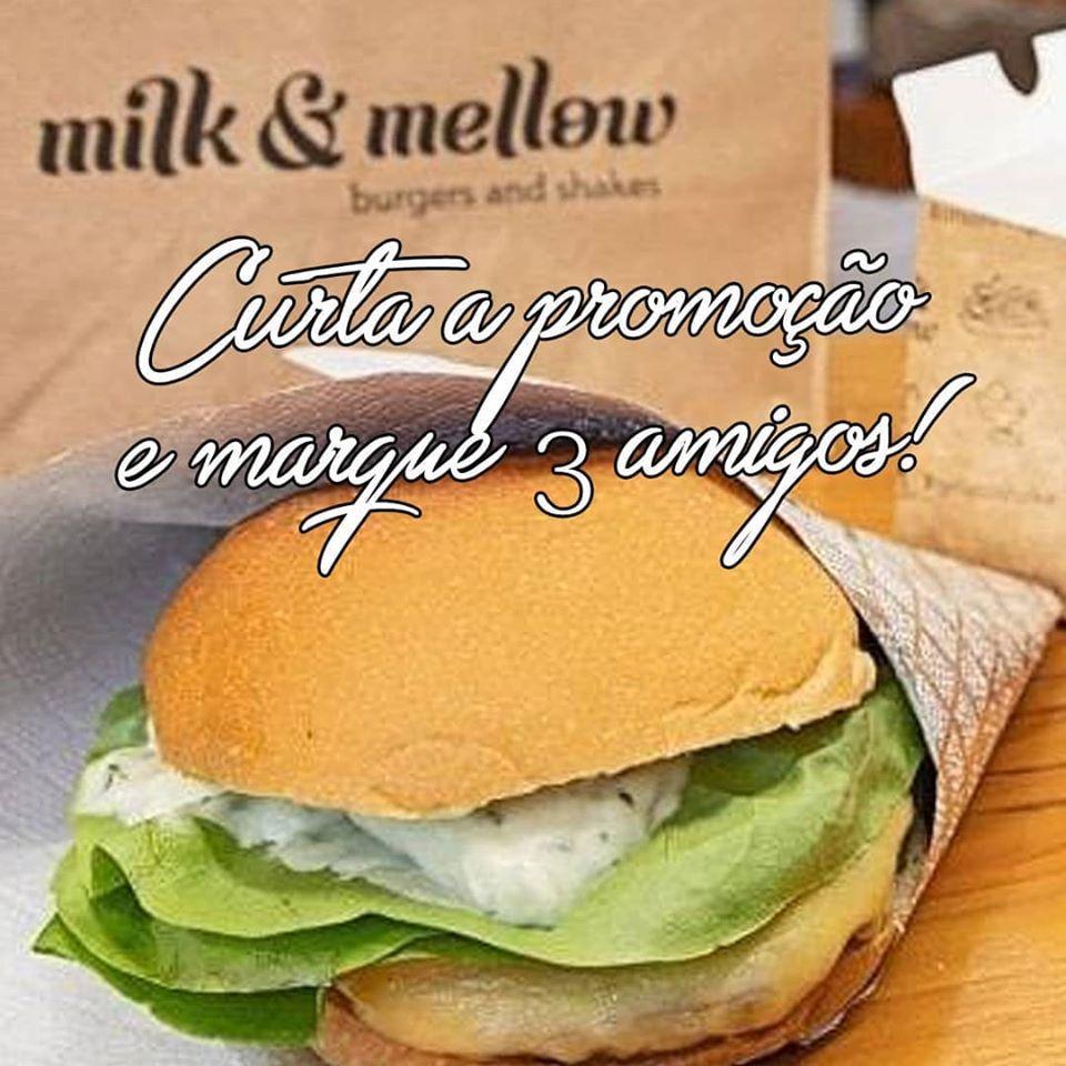 Promoção marque 3 amigos Milk & Mellow